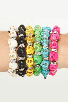 glamROK Skull Bracelet in Many Colors