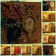 """Fairy Whispers and Rhymes"" Mini-Photo Album - https://www.zibbet.com/enchanted-revelries/extravagant-fairy-whispers-and-rhymes-mini-album-handmade-ooak"