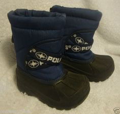 Polaris Toddler Kids Youth Size 5 Blue Winter Snow Boots Thermalite Waterproof | eBay