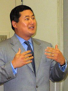 "Republican John Yoo -- possibly the most despicable American to ever live, he wrote the Torture Memos approved by George Bush. He wrote ""It is legal and acceptable for the United States to crush the genitals of small children in full view of their parents if their parents might have information useful to the US.""  He turned the US from a nation providing hope for a better world to the downtrodden to a sadistic thug forcing its will on the weak. There is probably a special place in Hell for…"
