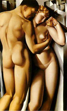 Adam & Eve by Tamara de Lempicka (1898-1980) Polish born American Art Deco painter http://www.flickr.com/photos/12793394@N07/2058330996/