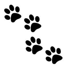 Paw Print Svg File Royalty Free For Vinyl Cutters