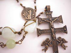 St. Teresa of Avila Rosary with Caravaca Crucifix. $160.00, via Etsy.