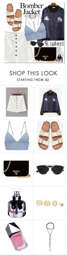 """""""Summer Bomber Jackets"""" by oshint ❤ liked on Polyvore featuring T By Alexander Wang, Prada, Christian Dior, Yves Saint Laurent, LULUS and GUiSHEM"""