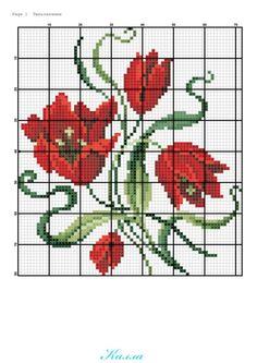 Gallery.ru / Фото #6 - Небольшие схемы с тюльпанами - Kalla