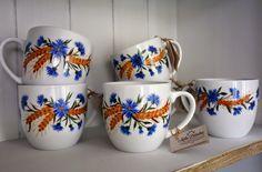 Handpainted mugs, big and comfy