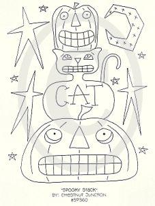 Spooky Stack Halloween Stitchery