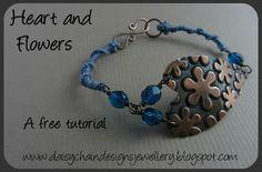 Heart and Flowers bracelet