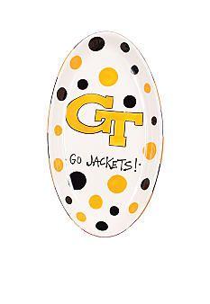 Georgia Tech Yellow Jackets Oval Tray