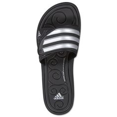 reputable site b6690 2800c adidas SLEEKWANA SLIDE SC Women s Sandals (BLACK METALLIC SILVER BLACK) -  WorldS
