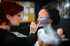 CMC Makeup School Dallas, Student Work, October Instagram: @@cmc_makeup_school , CMC Makeup School, makeup schools, makeup classes, mac makeup classes, special effects makeup schools, online makeup classes, free makeup classes, student work, October makeup, amber, body paint