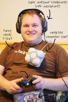 Oh sim, os gamers! Pelos olhos dele é possível ver que está jogando há alum tempo.