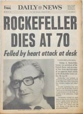 New York NY Daily News Nelson A. Rockefeller Dead/Dies at 70 1979 Newspaper
