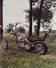 """""""Easy Rider"""" Chopper, 1971 Forever a Classic Old School Motorcycles, Cool Motorcycles, Vintage Motorcycles, Easy Rider, Monocycle, Old School Chopper, Chopper Motorcycle, Motorcycle Posters, Harley Bikes"""