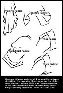 how to draw anime clothes step 1