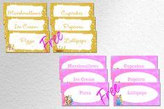 Disney Princesses Party Food Labels