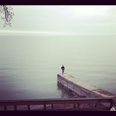 """We asked readers to send in photos from their phones about how they start their morning routines. Here is one from Instagram user @hersch004. The caption: """"#morningwsh start with a coffee and walk on Lake Erie."""""""