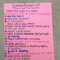 "Summer bucket list.(: lmao at ""make Italian food singing Italian opera"""