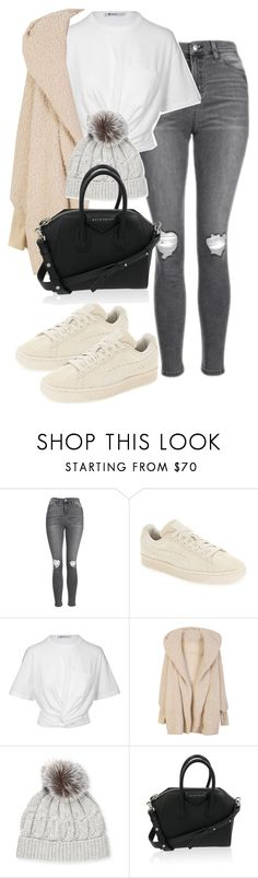 """""""Sin título #3744"""" by beel94 ❤ liked on Polyvore featuring Topshop, Puma, T By Alexander Wang, Sofiacashmere and Givenchy"""