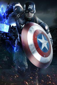 Marvel Fanart, Marvel Avengers Movies, Marvel Comics Superheroes, Marvel Heroes, Thor Marvel, Mundo Marvel, Captain America Wallpaper, Marvel Comic Universe, Avengers Wallpaper