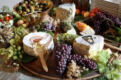 Pretty Fruit Displays | were greeted with a lavish display of cheeses and seasonal fruit ...