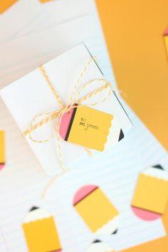 Make Pencil Gift Tags