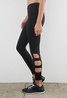 Cutout Workout Leggings   Forever 21 - 2000053124