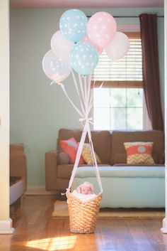 MATERNITY   NEWBORN PHOTOS | Oh The Places You'll Go! -- Hot Air Balloon Themed Maternity   Newborn Session
