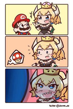 Super Mario Games, Super Mario Art, Cartoon Characters As Humans, Video Game Characters, Anime Meme, Super Mario Kunst, Mario Funny, Mario Comics, Cute Chibi