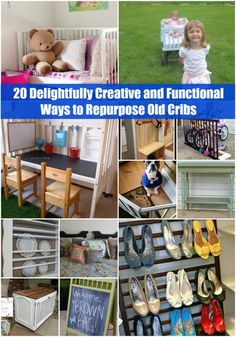 20 Delightfully #Creative and #Functional Ways to Repurpose Old #Cribs - DIY &...