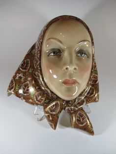 Clay Art Ceramic Decorative And Collectible Wall Mask Art