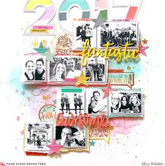 Paige Evans DT Project - Year in Review; Paige Font cut file; Turn the Page & Take Me Away collections; Shimmerz Paints