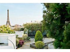 Terrace overlooking Paris