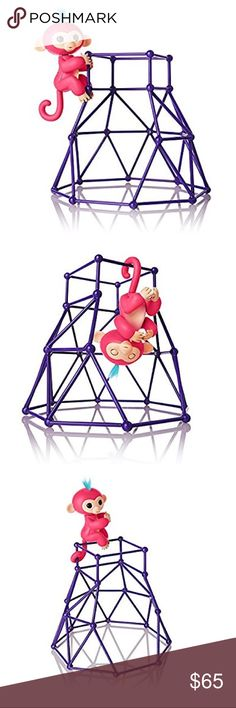 Authentic WowWee Fingerling jungle gym play set Monkey Aimee, pink with blue hair.  Super hard to find, hottest toy of the season! WowWee Other