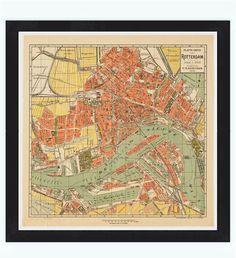 Kaart van Rotterdam 1911 (map)