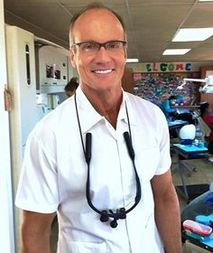 Dr Walter Palmer's workplace has become a target for activists...