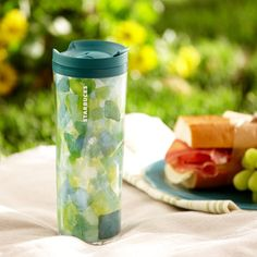 To hide my wine....by the pool.  Made Greener Tumbler - Painted Colors, Multi, 16 fl oz | Starbucks® Store