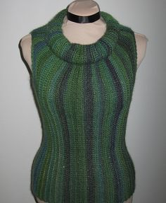 Ravelry: Ginny Cowl Sleeveless Top pattern by Liz Lindo  done entirely in slip stitches. X-small to XX-Large     free pdf