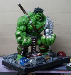 WW Hulk 1:4 Commission for Zod by Joel Zartiga, via 500px