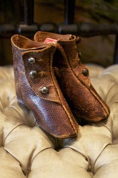 Antique French Leather Boots for Fashion Dolls