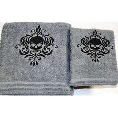 Skull - Gothic - Halloween - Bath Towel Set: Everything Else Gothic Halloween, Halloween Skull, Bath Towel Sets, Bath Towels, Bathroom Towels, Gothic Bathroom, Art Et Design, Goth Home, Spooky House
