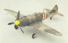 Lavochkin La-5FN Fighter Free Aircraft Paper Model Download