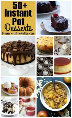 Instant Pot Pressure Cooker Dessert Recipes