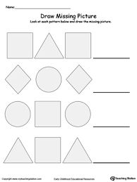complete the pattern pinterest printable worksheets worksheets and shapes. Black Bedroom Furniture Sets. Home Design Ideas