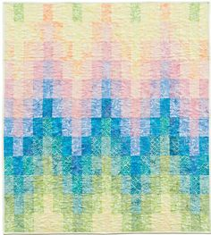 Here are free patterns for bargello quilts ! The bargello technique can be used to create backgrounds for applique, to showcase landscape pr. Free Baby Quilt Patterns, Bargello Quilt Patterns, Heart Quilt Pattern, Pattern Baby, Bargello Quilts, Free Pattern, Quilting Patterns, Jellyroll Quilts, Embroidery Patterns