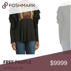"It's here!!! NEED to list over weekend FREE PEOPLE ""LA CIENGA"" TOP Free People Tops Tunics"
