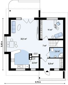 Проект дома Z102 - план-схема 1