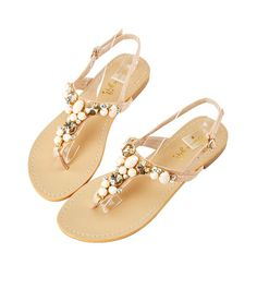 Grace giftGrace gift 官方購物網站 - 浪漫寶石夾腳涼鞋