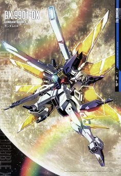 The GX-9901-DX Gundam Double X (aka Gundam DX, Double X, DX) is a mobile suit produced by the New United Nations Earth in After War Gundam X, piloted by Garrod Ran.
