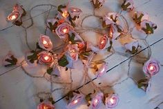images of fairy bedrooms for little girls | found this photo of some beautiful fairy lights shaped like roses ...